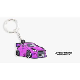 LB Nissan GTR Keychain (Purple color)