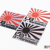 LB Works Logo Stickers (White/Red)